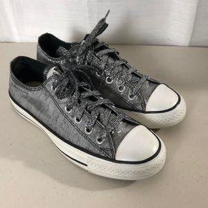 Converse Black & Silver Shiny Chuck